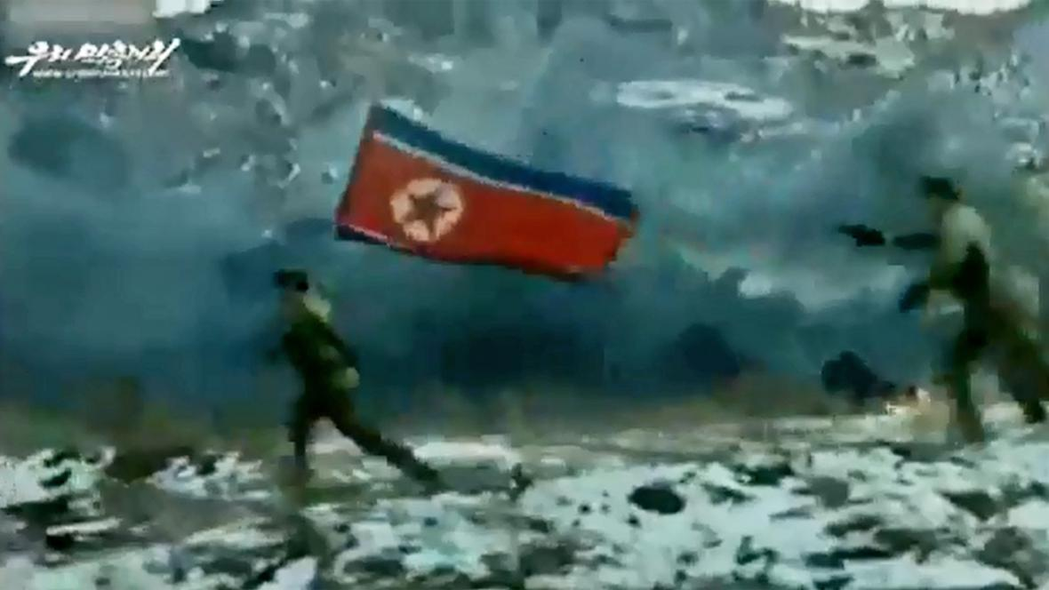 Severokorejská invaze na jih v propagandistickém videu