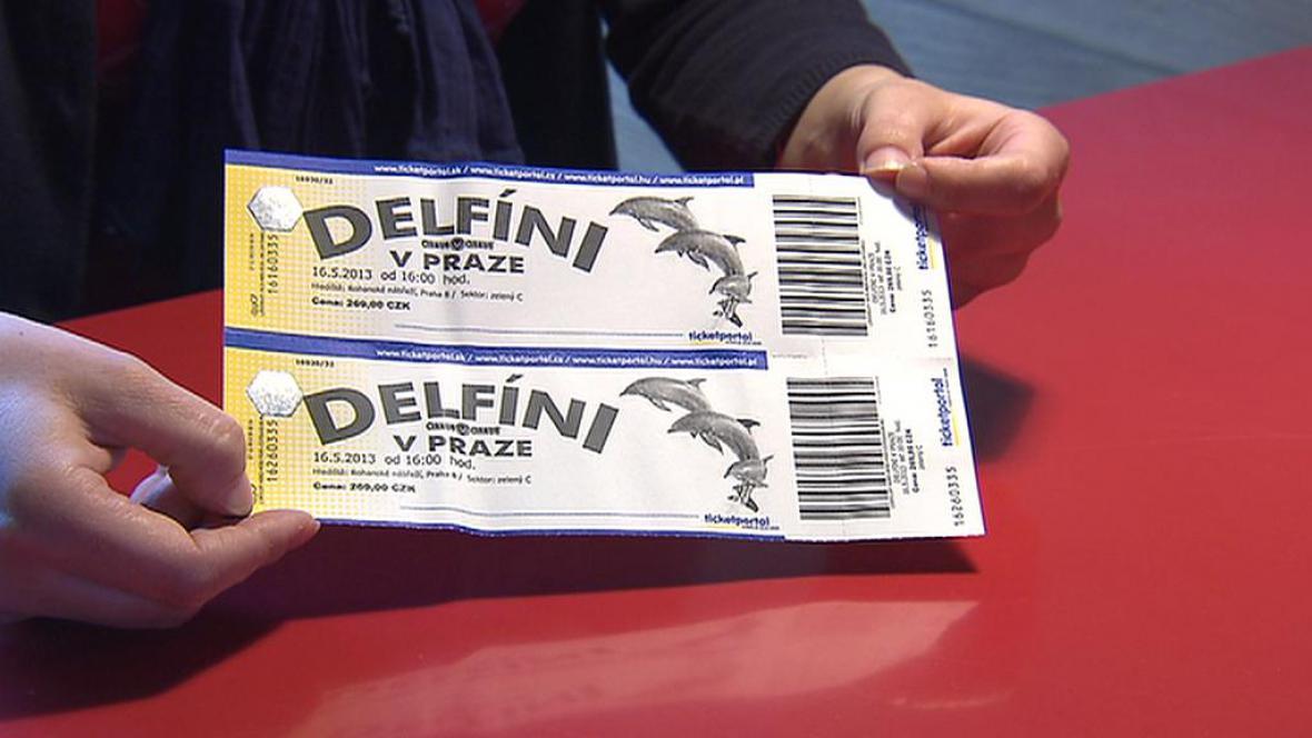 Lístek na show Delfíni v Praze