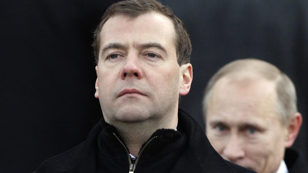 Dmitrij Medvěděv a Vladimir Putin