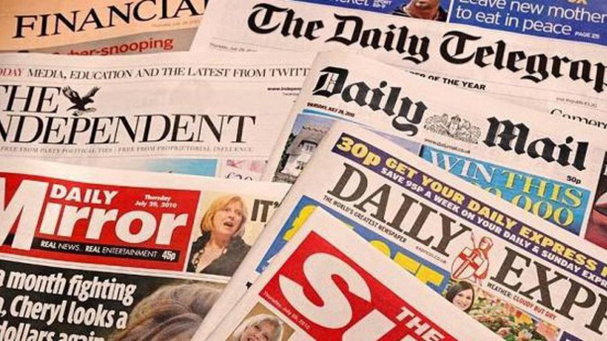 Noviny ve Velké Británii