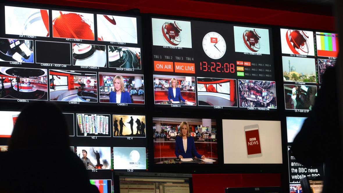 Zázemí vysílání stanice BBC
