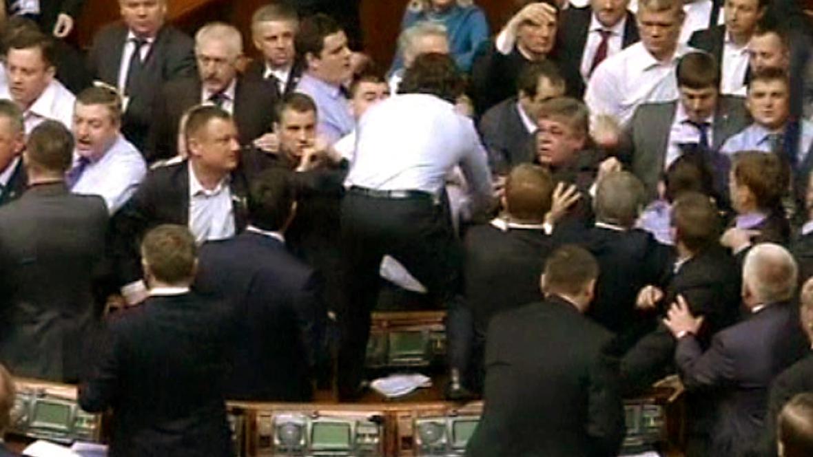 Bitka ukrajinských poslanců