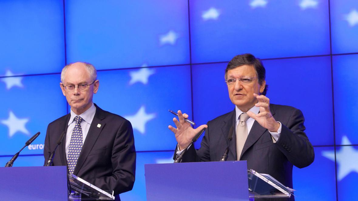Herman van Rompuy a José Barroso