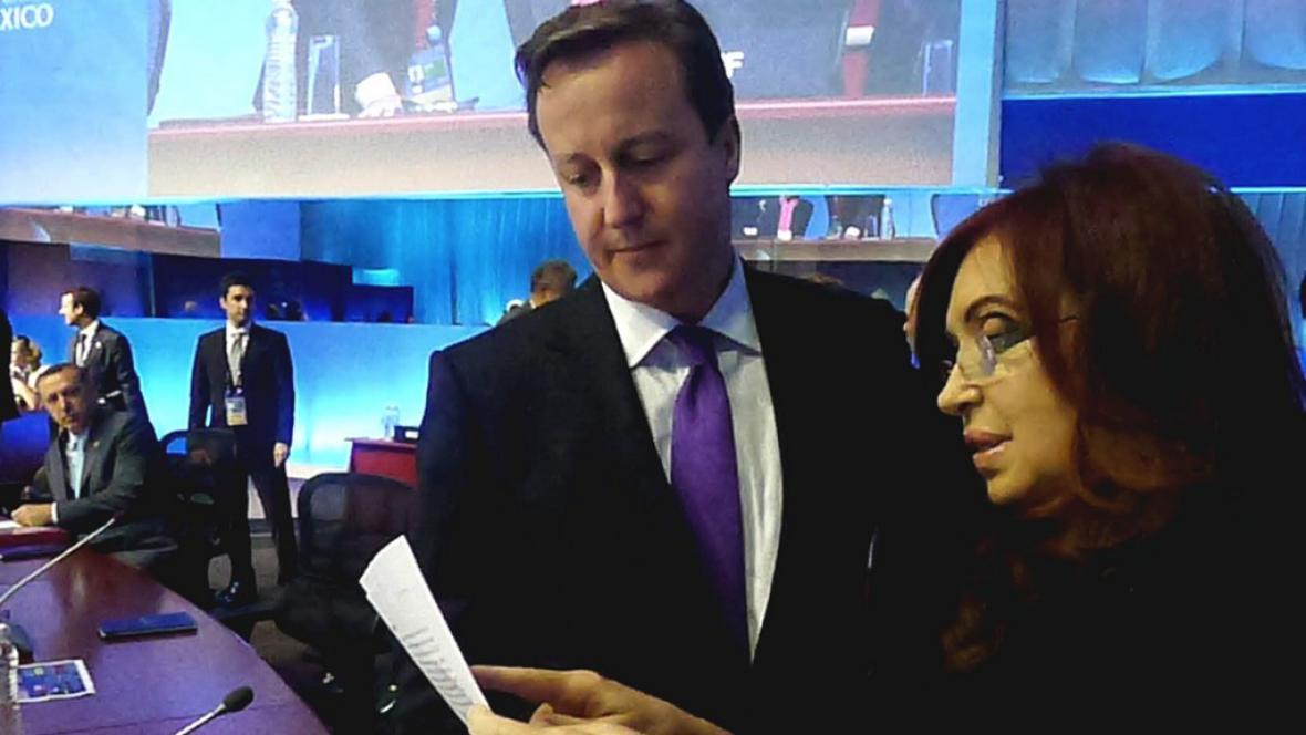 David Cameron s Cristinou Fernándezovou