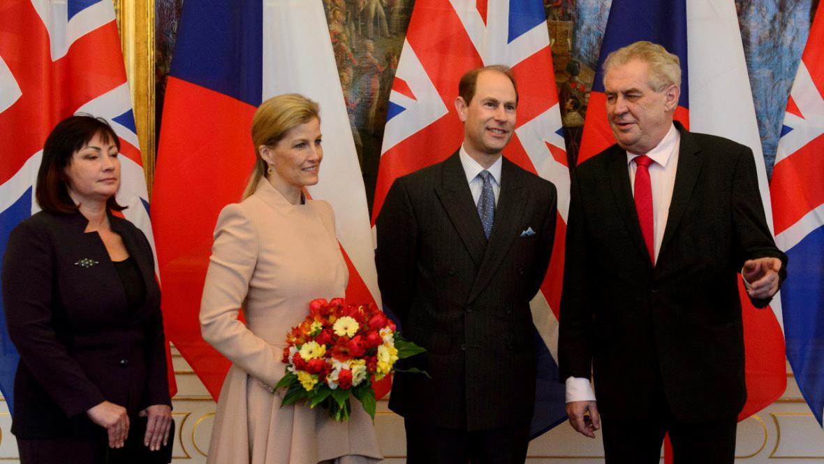 Princ Edward na návštěvě v Praze