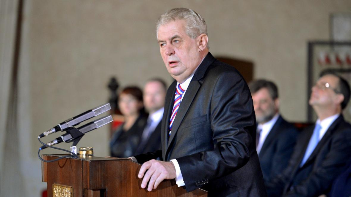Miloš Zeman ve Vladislavském sále