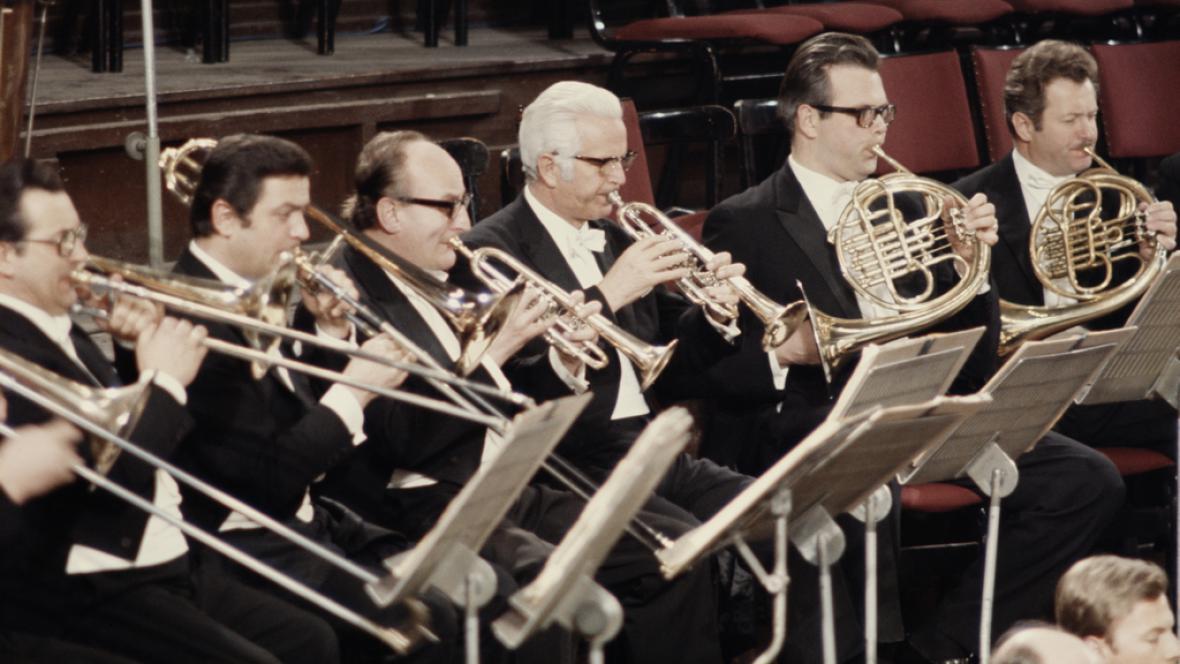 Vídeňská filharmonie na snímku z roku 1975
