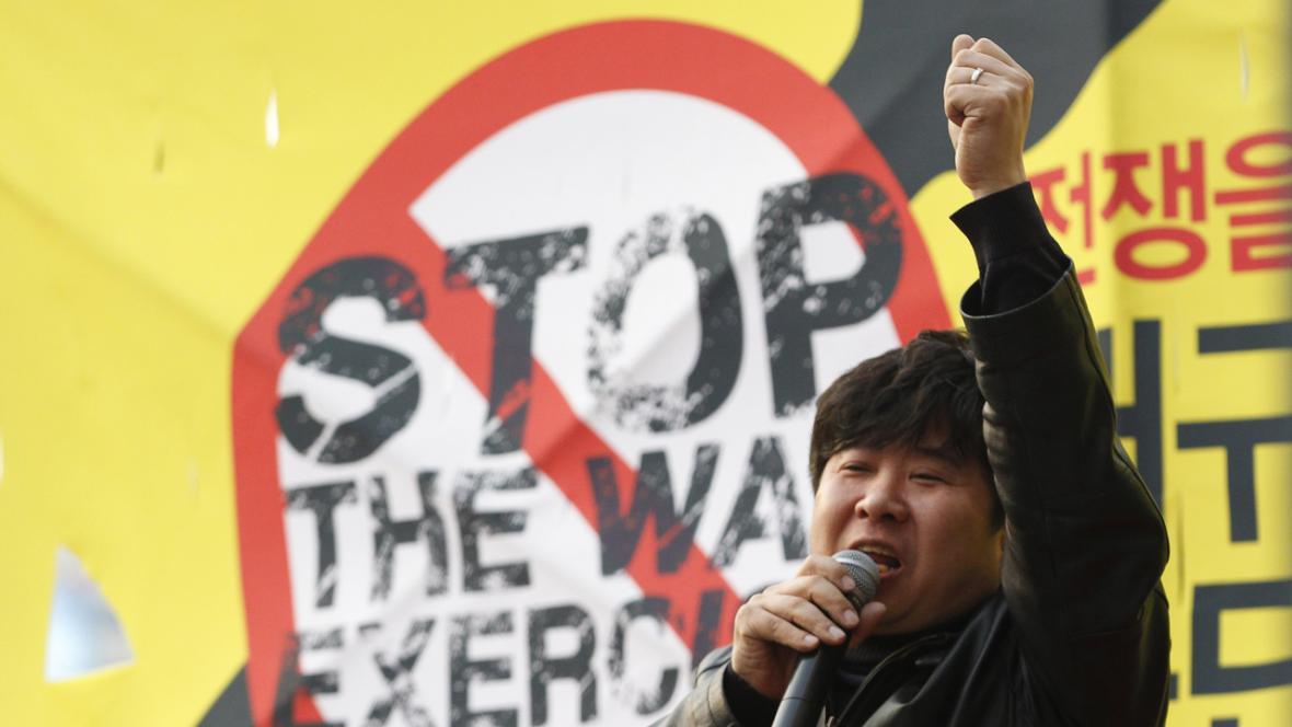 Jihokorejské protesty proti KLDR