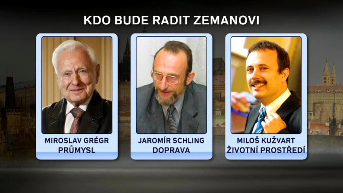 Adepti na Zemanovy poradce