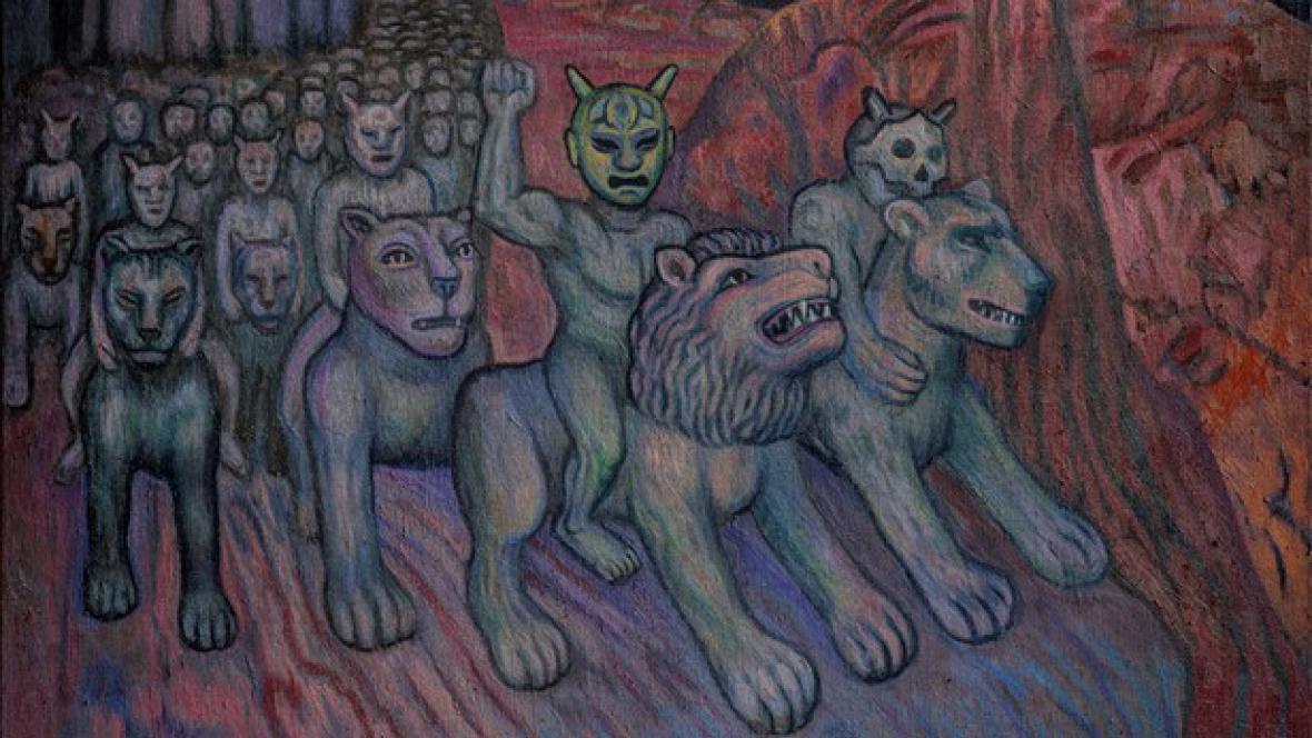 Jaroslav Róna - výstava Obrazy a Sochy