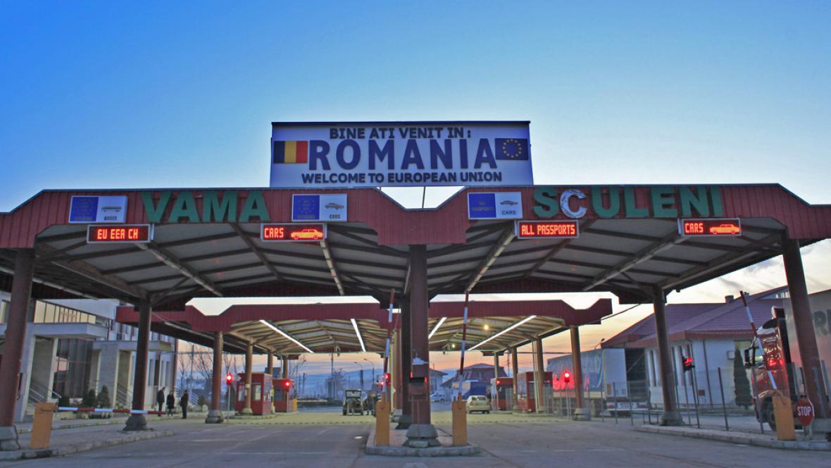 Hraniční přechod v Rumunsku