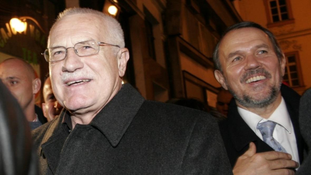 Václav Klaus a Petr Hájek