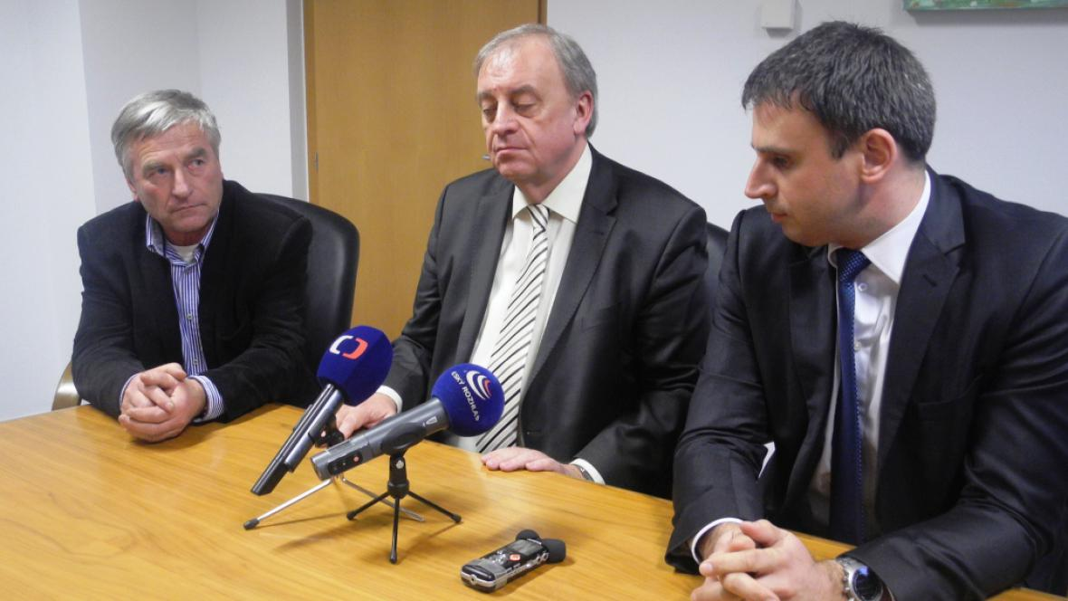 Václav Kučera, Petr Braný a Jiří Zimola (zleva)