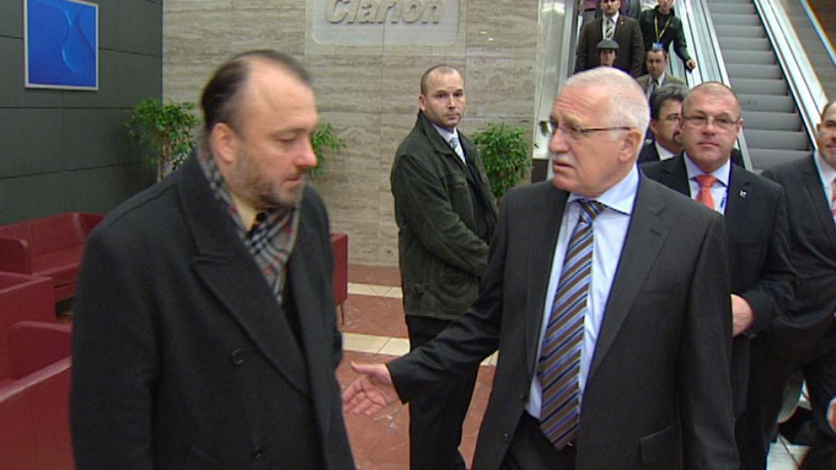 Václav Klaus s Ladislavem Jaklem