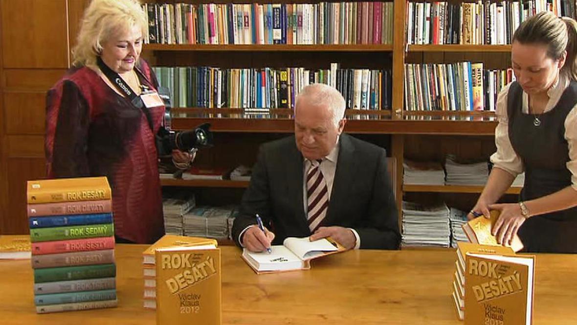 Václav Klaus představil Rok desátý