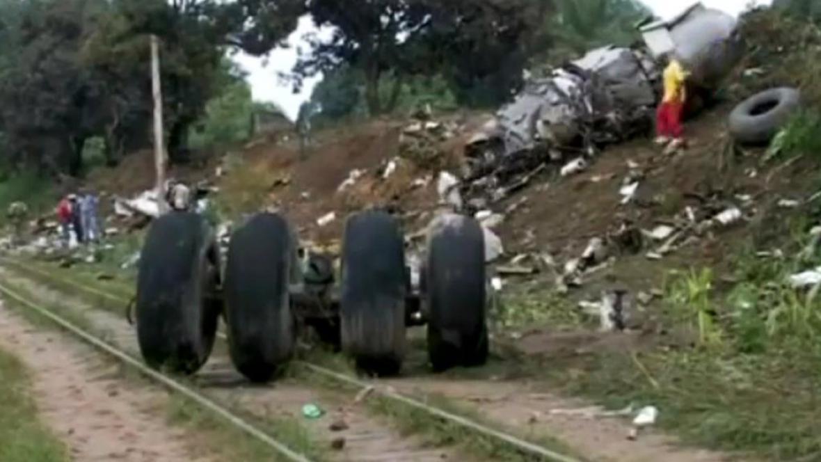 Havárie letadla v Kongu