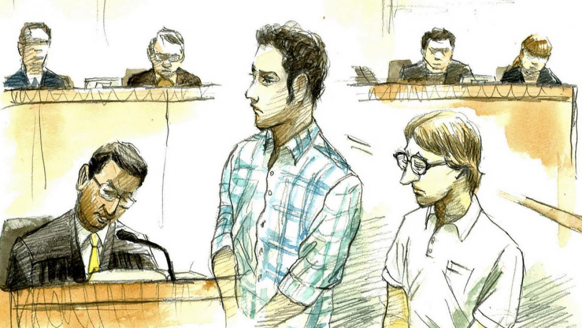 Christopher Browning a Skyler Dozierwalker před soudem