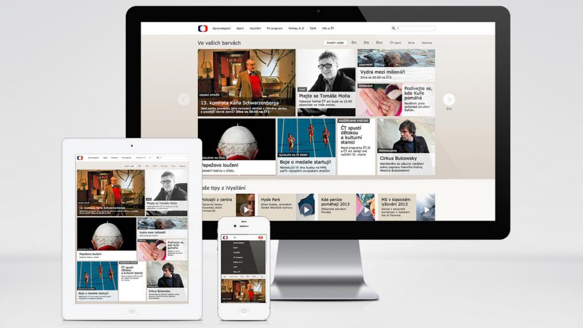 Nová homepage funguje na bázi responsivního webdesignu