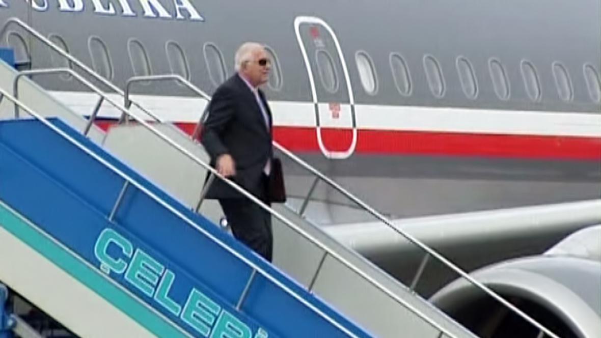 Václav Klaus na zahraniční cestě
