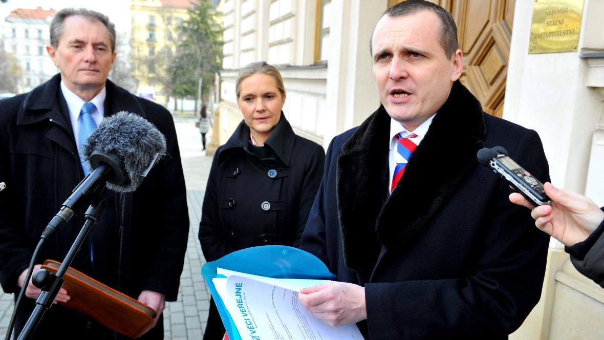 Josef Novotný, Petra Quittová a Vít Bárta