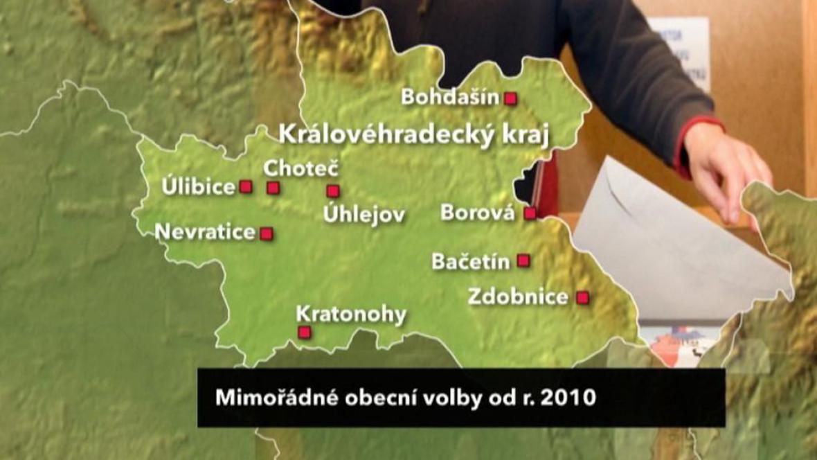 Mimořádné obecní volby od roku 2010