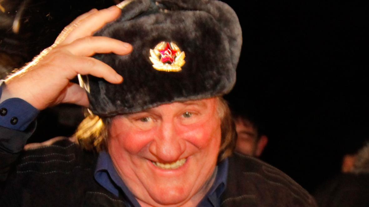 Gérard Depardieu na návštěvě Čečenska