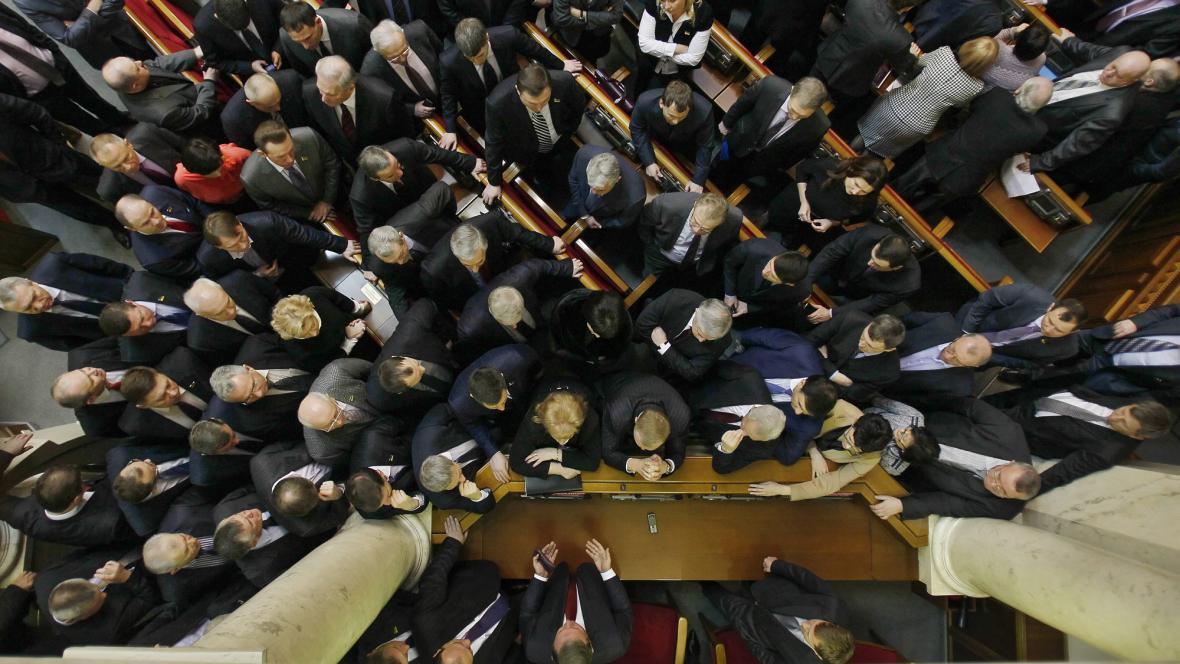 Blokáda ukrajinského parlamentu