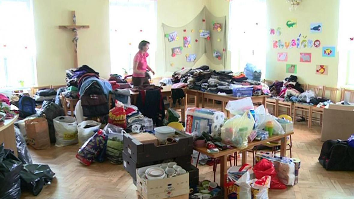 Sbírka materiální pomoci ve frenštátské charitě
