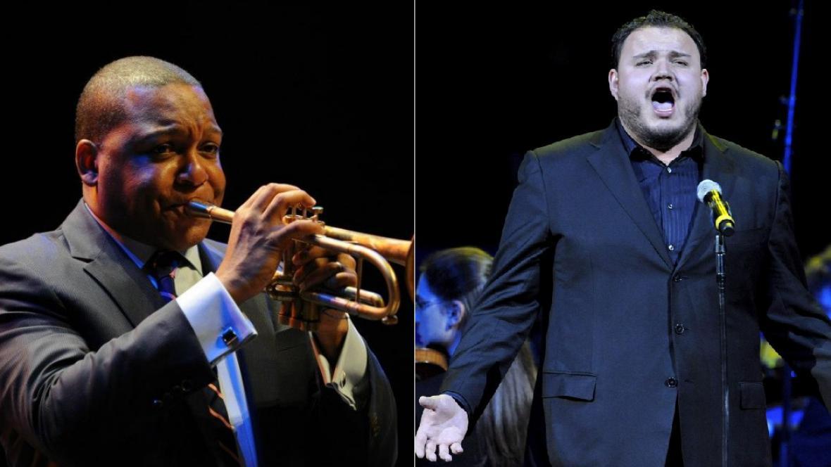 Americký trumpetista Wynton Marsalis a mexický tenorista David Lomelí