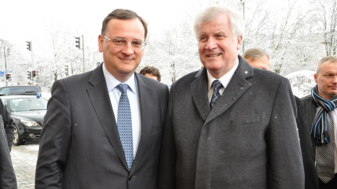 Petr Nečas s Horstem Seehoferem