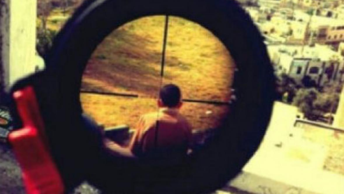 Snímek izraelského odstřelovače na Instagramu