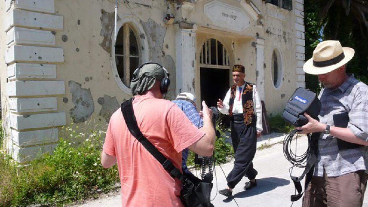 Z natáčení Šumné stopy v Bosně a Hercegovině