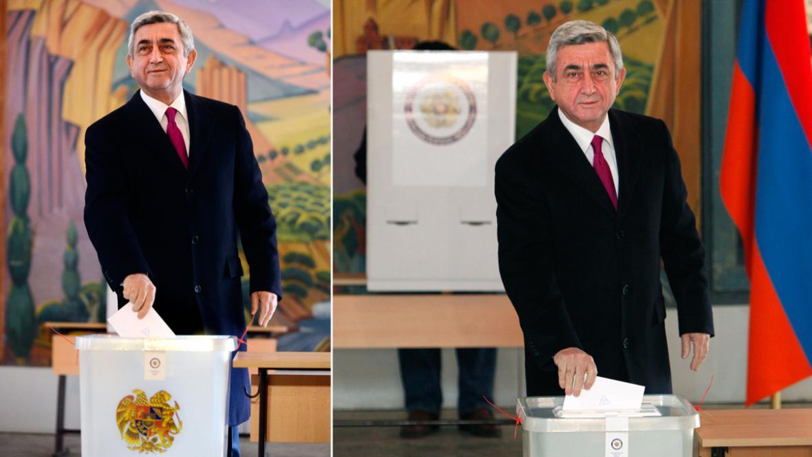 Serž Sargsjan u volební urny