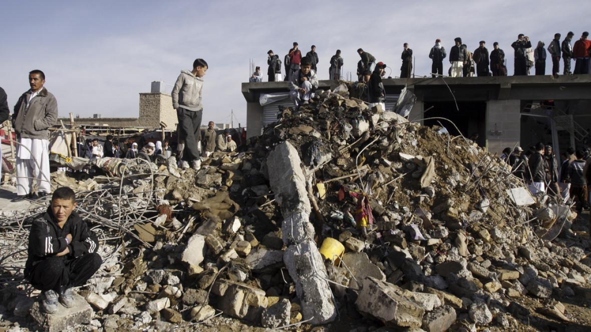 Následky výbuchu v pákistánské Kvétě