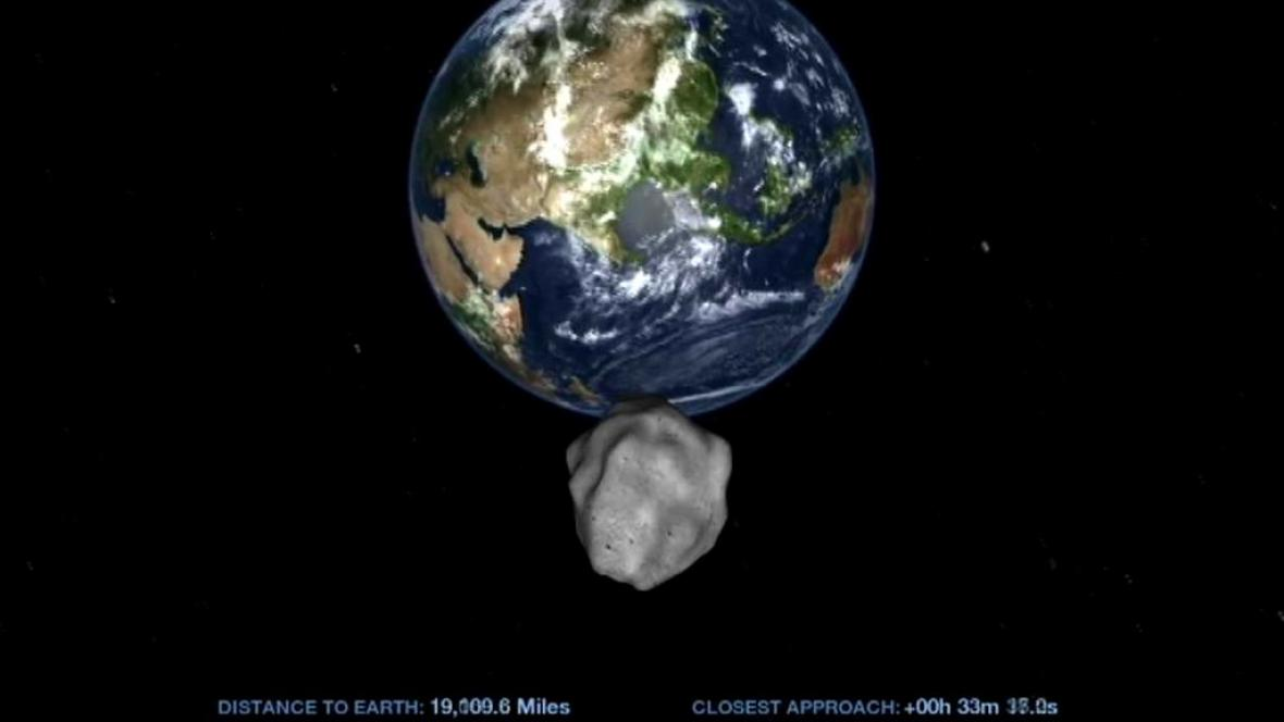 Asteroid 2012 DA14 těsne mine Zemi