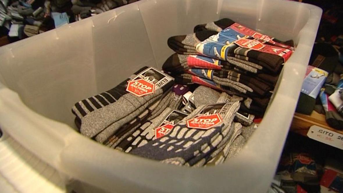 Ponožky z domácí výroby Wolkových