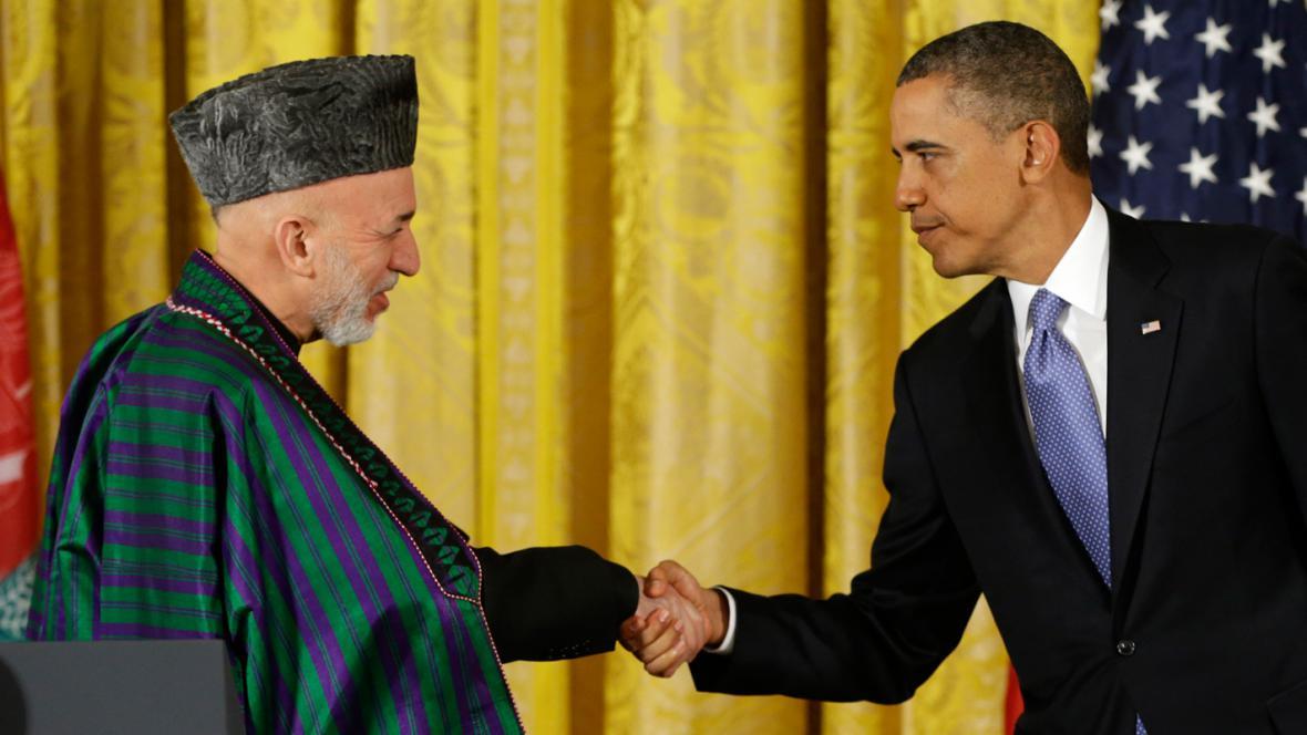 Hamíd Karzáí a Barack Obama