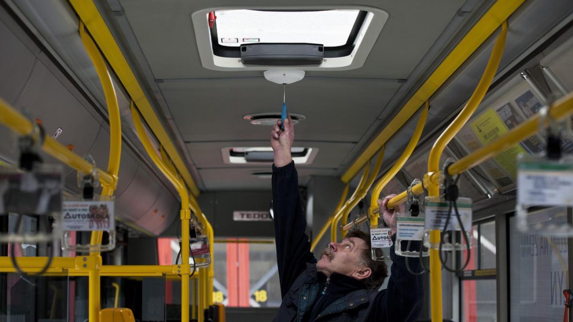 Kamera v autobusu