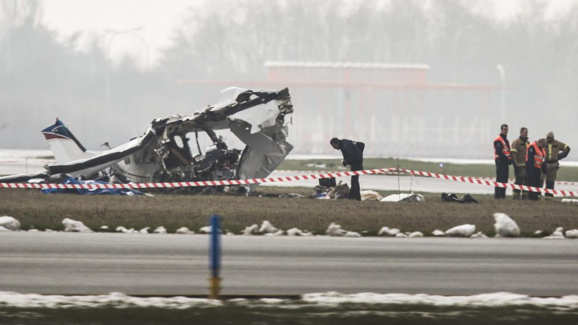 Nehoda cessny v Belgii