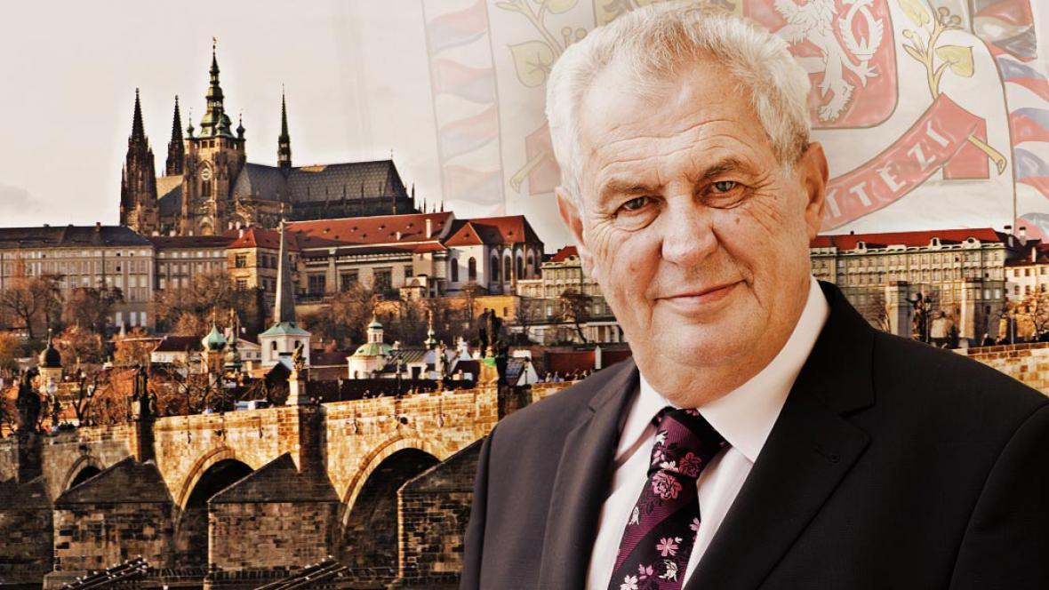 Nový český prezident Miloš Zeman