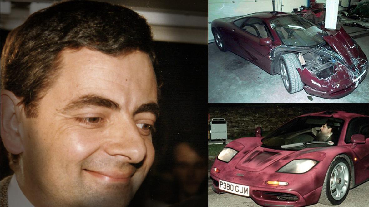 Rowan Atkinson havaroval s McLarenem