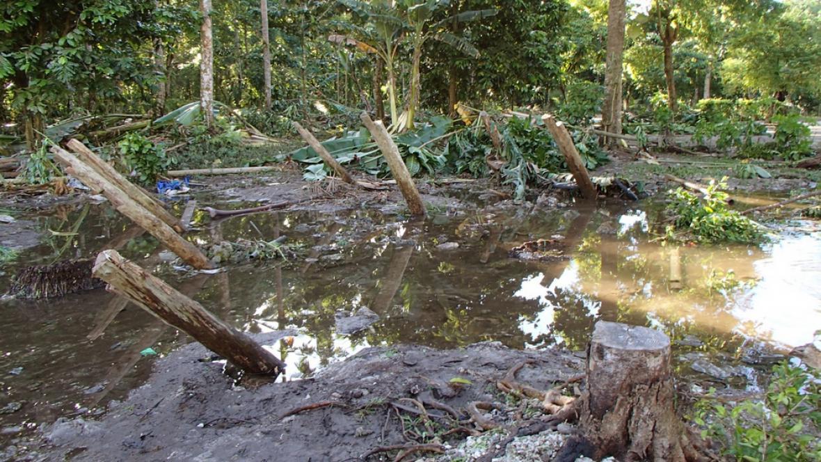 Následky tsunami na Šalamounových ostrovech