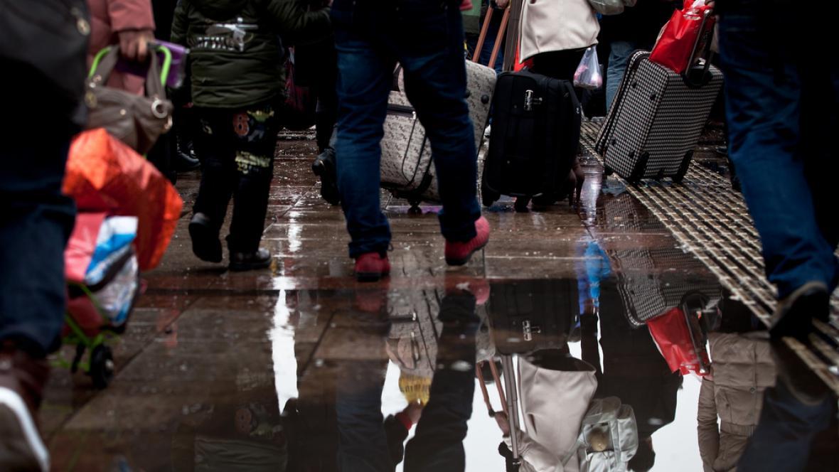 Číňané cestují domů na oslavy nového roku