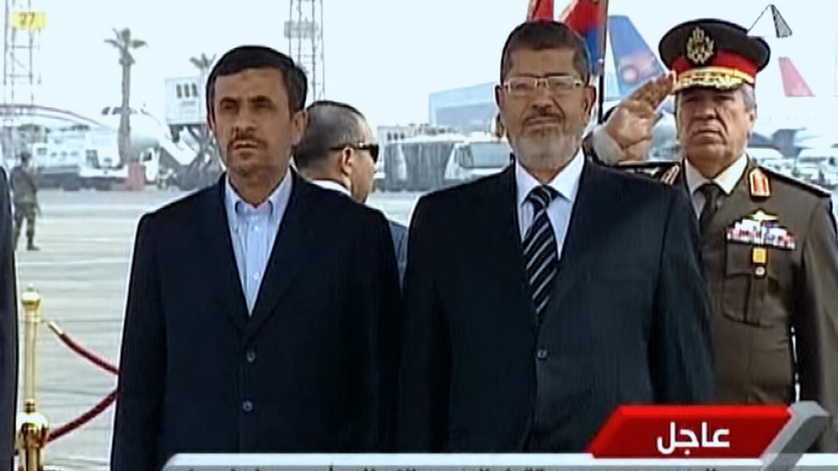 Mahmúd Ahmadínežád a Muhammad Mursí