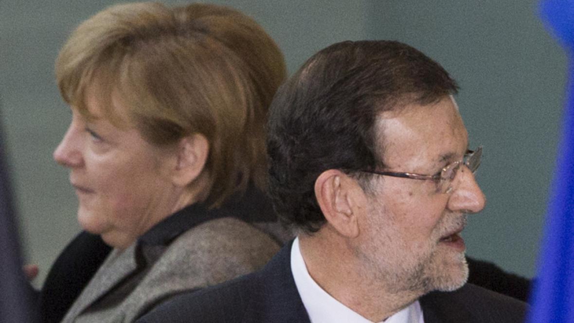 Angela Merkelová a Mariano Rajoy