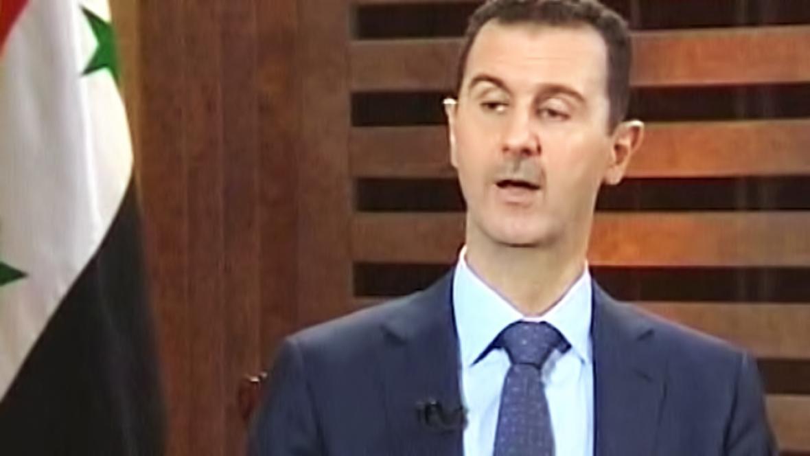 Bašár Asad v rozhovoru pro syrskou televizi