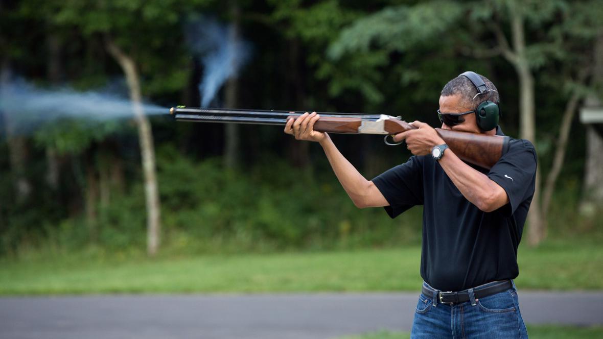 Barack Obama si rád zastřílí