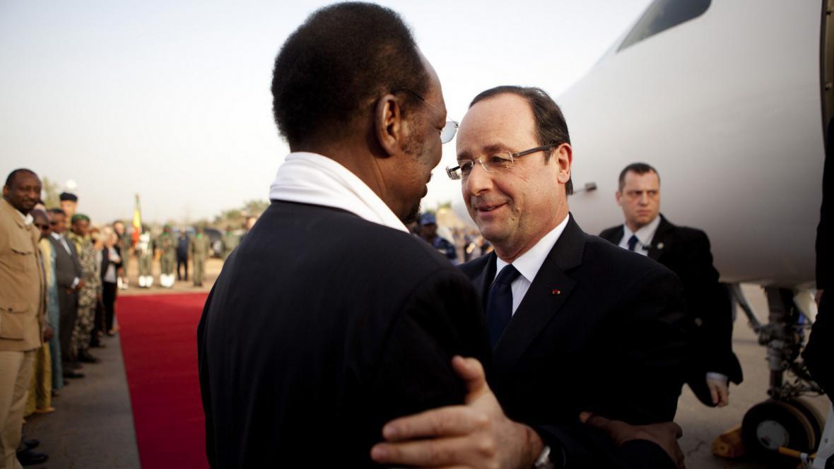 Setkání prezidentů Mali a Francie