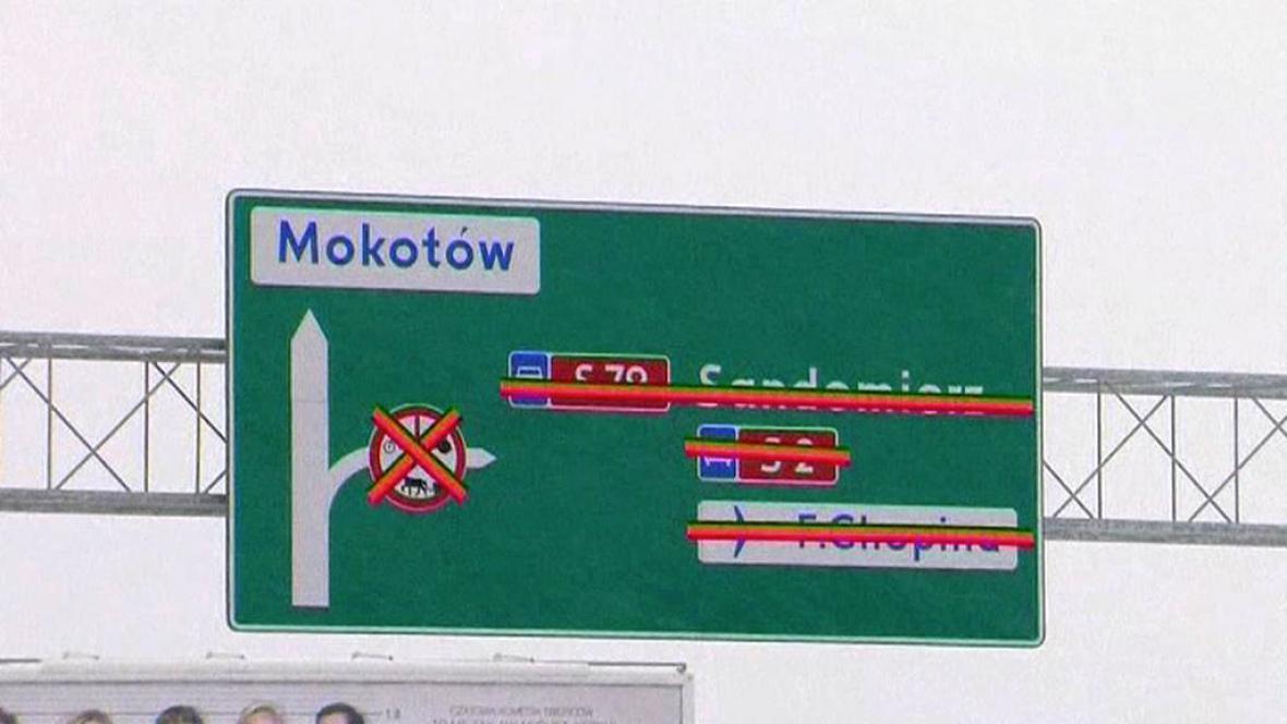 Stavba silnice v Polsku