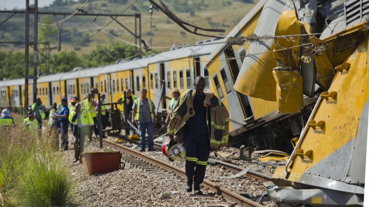 Železniční nehoda v JAR